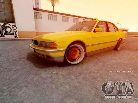 BMW 730i para GTA San Andreas esquerda vista