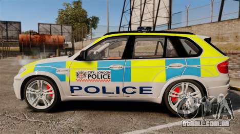 BMW X5 City Of London Police [ELS] para GTA 4 esquerda vista