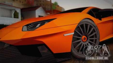 Lamborghini Aventador LP 700-4 RENM Tuning para GTA San Andreas traseira esquerda vista
