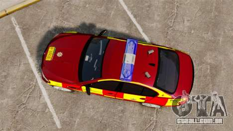 BMW M5 West Midlands Fire Service [ELS] para GTA 4 vista direita