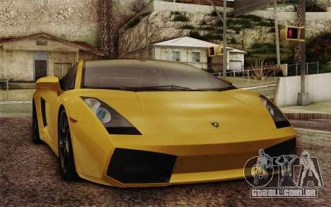 Lamborghini Gallardo SE para vista lateral GTA San Andreas