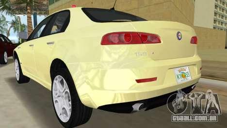 Alfa Romeo 159 ti para GTA Vice City vista traseira esquerda