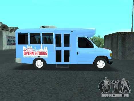 Ford Shuttle Bus para GTA San Andreas vista traseira