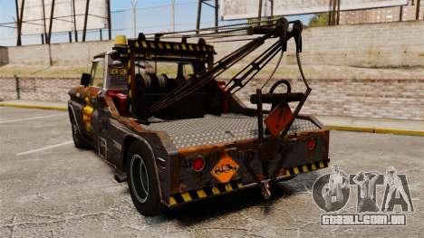 Chevrolet Tow truck rusty Stock para GTA 4 traseira esquerda vista