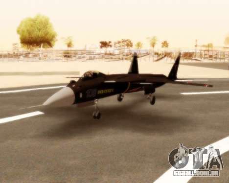 Su-47 Berkut v 1.0 para GTA San Andreas esquerda vista