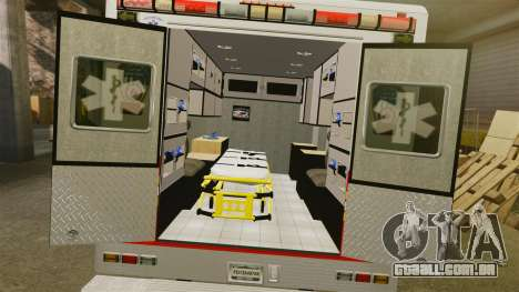 Ford F-350 FDNY Ambulance [ELS] para GTA 4 vista interior