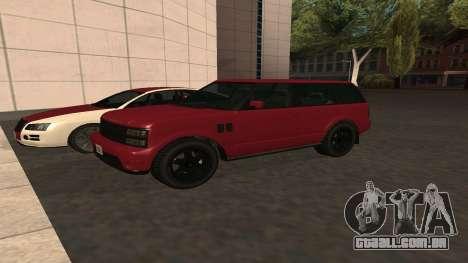 Baller GTA 5 para GTA San Andreas vista interior