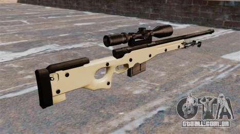 Rifle de sniper L115A1 AW para GTA 4 segundo screenshot