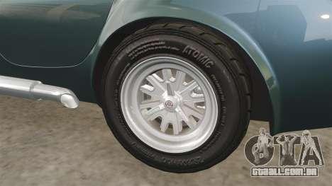 Shelby Cobra 427 SC 1965 para GTA 4 vista superior