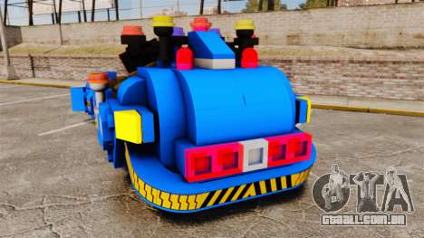 Lego Car Blade Runner Spinner [ELS] para GTA 4 traseira esquerda vista