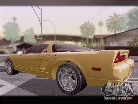 Acura NSX para GTA San Andreas vista inferior