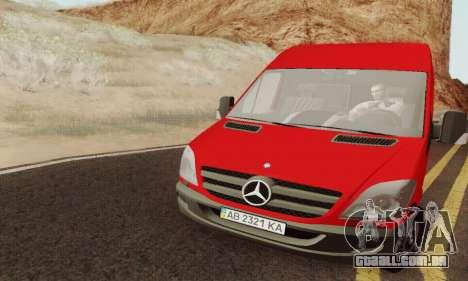 Mersedes-Benz Sprinter para GTA San Andreas vista direita