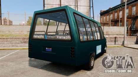 GTA V Brute Tour Bus para GTA 4 traseira esquerda vista