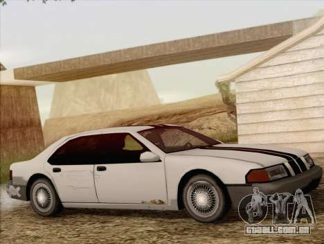 Fortune Sedan para GTA San Andreas vista traseira