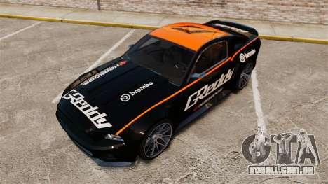 Ford Mustang GT 2013 NFS Edition para GTA 4 vista inferior
