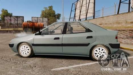 Citroen Xantia 1999 para GTA 4 esquerda vista