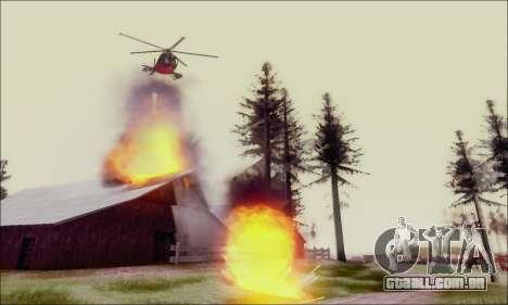 Helicóptero de ataque do abutre de GTA 5 para GTA San Andreas vista interior