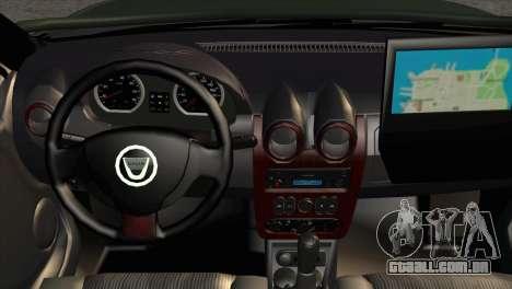 Dacia Duster Army Skin 1 para GTA San Andreas vista direita