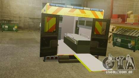 Mercedes-Benz Sprinter [ELS] London Ambulance para GTA 4 vista interior