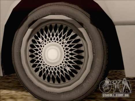 Fortune Sedan para GTA San Andreas traseira esquerda vista