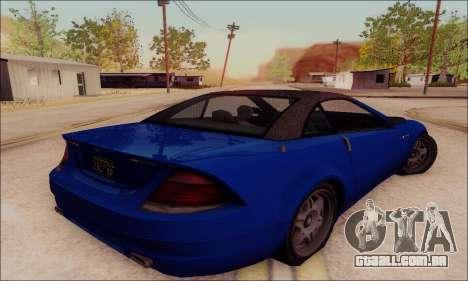 Feltzer de GTA IV para GTA San Andreas vista traseira