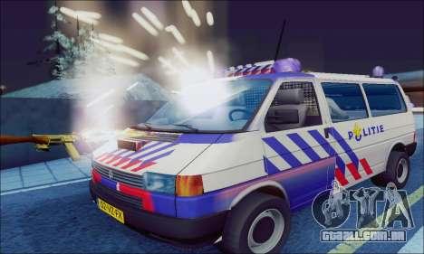 Volkswagen T4 Politie para GTA San Andreas esquerda vista
