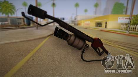 Lança-chamas de Team Fortress para GTA San Andreas segunda tela