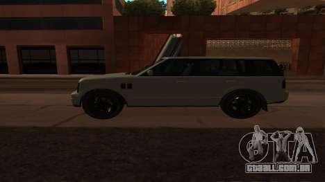Baller GTA 5 para GTA San Andreas esquerda vista