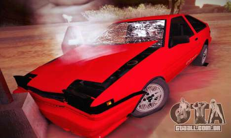 Toyota Corolla GT-S 1985 para GTA San Andreas vista inferior