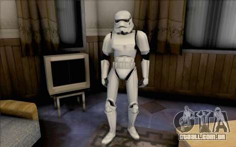Stormtrooper de Star Wars para GTA San Andreas segunda tela