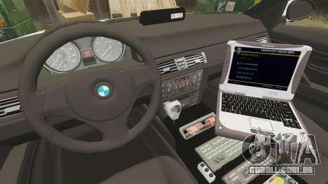 BMW 330i Hampshire Police [ELS] para GTA 4 vista de volta