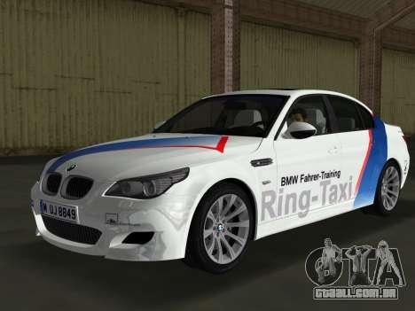 BMW M5 (E60) 2009 Nurburgring Ring Taxi para GTA Vice City
