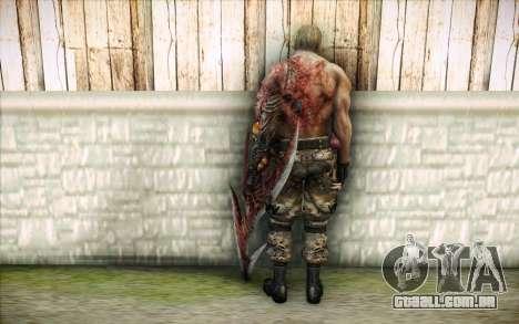 Um infectado Krauser para GTA San Andreas segunda tela