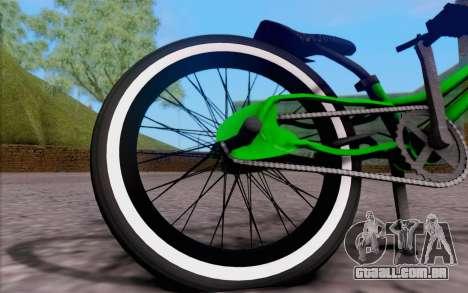 BMX Rebaixada para GTA San Andreas traseira esquerda vista