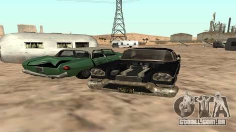 Tornado GTA 5 para GTA San Andreas traseira esquerda vista