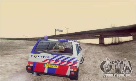 Volkswagen T4 Politie para GTA San Andreas vista superior