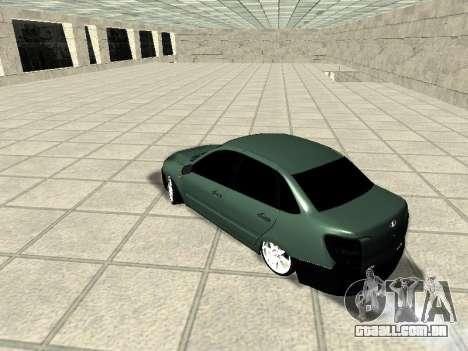 Lada Granta para GTA San Andreas traseira esquerda vista