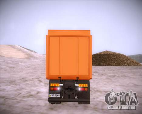 Scania P380 para vista lateral GTA San Andreas