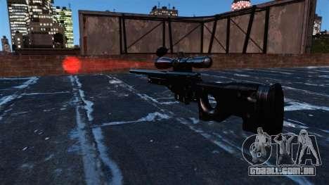 Rifle de sniper AI Arctic Warfare Magnum para GTA 4 terceira tela