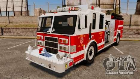 Firetruck Alderney [ELS] para GTA 4