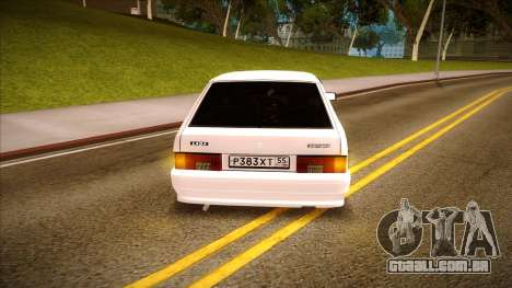 ВАЗ 2114 para GTA San Andreas vista traseira