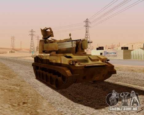 2S6 Tunguska para GTA San Andreas vista direita
