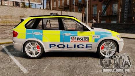 BMW X5 Police [ELS] para GTA 4 esquerda vista