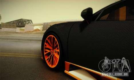 Bugatti Veyron Super Sport World Record Edition para GTA San Andreas vista traseira
