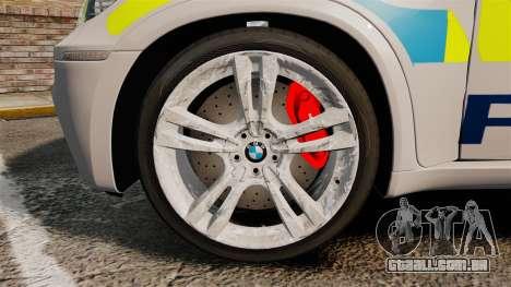 BMW X5 Police [ELS] para GTA 4 vista de volta