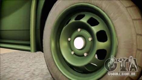 Dacia Duster Army Skin 1 para GTA San Andreas traseira esquerda vista