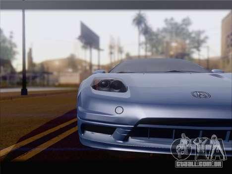 Acura NSX para GTA San Andreas esquerda vista