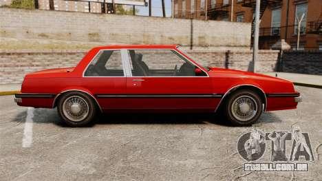 Willard Coupe para GTA 4 esquerda vista