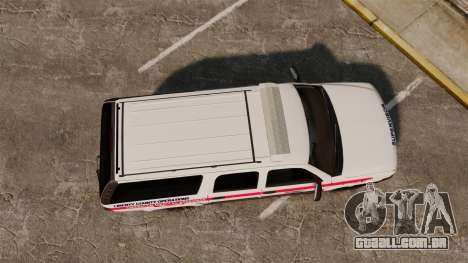 Chevrolet Suburban 2003 AMR [ELS] para GTA 4 vista direita