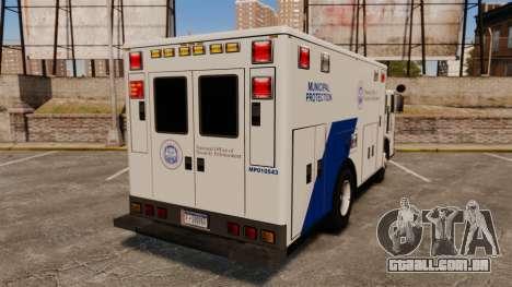 Hazmat Truck NOOSE [ELS] para GTA 4 traseira esquerda vista
